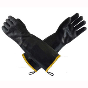 Black Safety Work Gloves pictures & photos