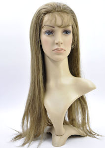 PU Base with Lace Cap 100% Human Hair Full Lace Wig pictures & photos