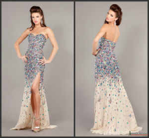 Shinny Stones Formal Gowns Beaded Chiffon Evening Dresses Z5032 pictures & photos