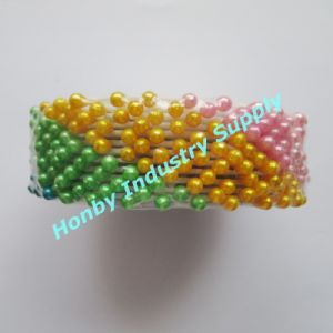 Colored Plastic Teardrop Shape Pearl Head Corsage Pins in Wheel (P160322B) pictures & photos