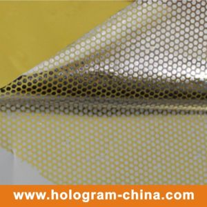 Tamper Evident Security Honeycomb Embossing Foil pictures & photos