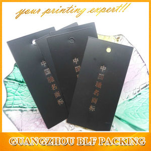 Custom Black Fancy Name Hang Tags (BLF-T119) pictures & photos