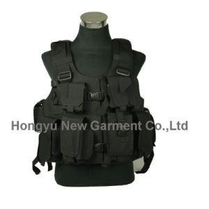 Military Gear Black Nylon Tactical Vest (HY-V033) pictures & photos