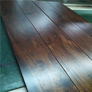 Hot Selling Walnut Color with Toothing Gain Solid Acacia Wood Flooring pictures & photos
