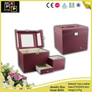 Large Capacity Useful Red Jewelry Gift Box (8094) pictures & photos