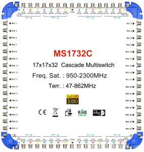 Zinc Die 17X17X32 Cascade Multiswitch for Satellite TV pictures & photos