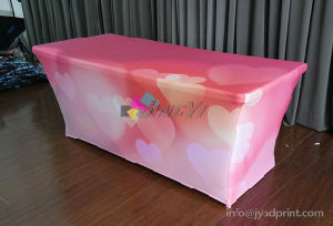 Full Color Dye Sublimation Stretch Fabric Event Table Cover Banner pictures & photos