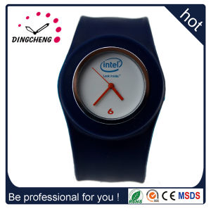 Promotion Sport Wrist Rubber Silicone Slap Fashion Watch Merry Christmass Gift (DC-104) pictures & photos