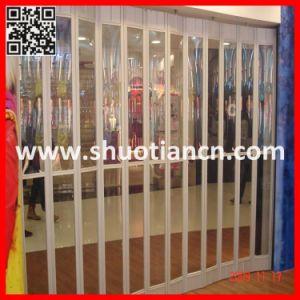 Polycarbonate Sliding Commercial Shop Folding Doors (ST-002) pictures & photos