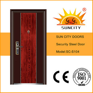 Pretty Design Commercial Steel Main Door (SC-S104) pictures & photos