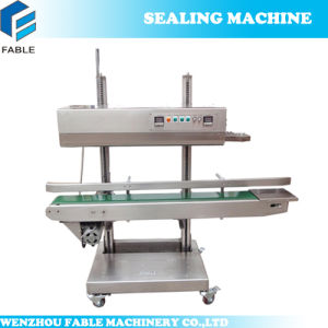 Stainless Steel Vertical Solid Ink Continuous Plastic Sealer CBS-1100 pictures & photos