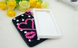 I Love Lipstick Silicone Sets of Mobile Phone Accessories Genuine Original Independent Design for Huawei Y5II Sansung Note5 HTC826 (XSF-002) pictures & photos