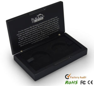 Matt Black Painting Medallion Gift Wood Box pictures & photos