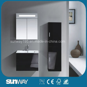2016 Hot Sale Wall Mounted MDF Bathroom Cabinet with Mirror (SW-1512) pictures & photos