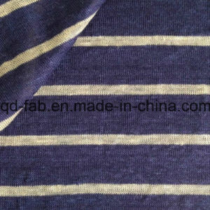 Yarn Dyed Stripe Knitted Linen Fabric (QF15-2048) pictures & photos