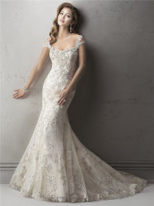 Customized Luxurious High-End Lace Wedding Dresses Mermaid