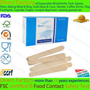Medical Use Birch Wood Disposable Tongue Stick pictures & photos