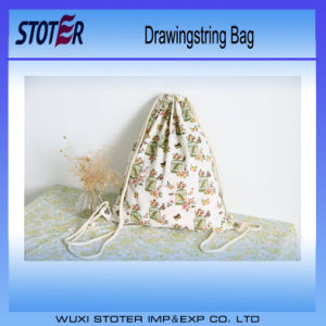 Custom Made Mesh Sports Rucksack Drawstring Bag with Zipper Pocket