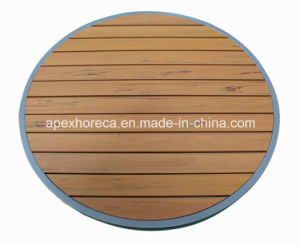Restaurant Furniture Table Top Plastic Wood Table Outdoor Table pictures & photos
