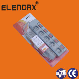 Elendax Electrical Fittings/Socket Companies in China/Multi Socket Extension (E6003EIS) pictures & photos
