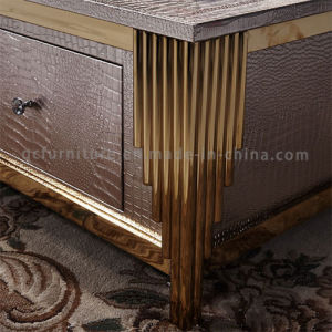 2016 Most Popular Rose Golden Frame Wooden Coffee Table pictures & photos