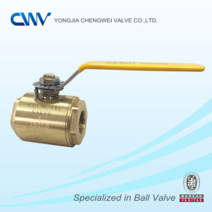 Two Pieces Female Thread Bronze Ball Valve