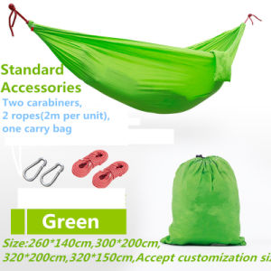 Carries Double Parachute Nylon Hammock with Carabiners pictures & photos