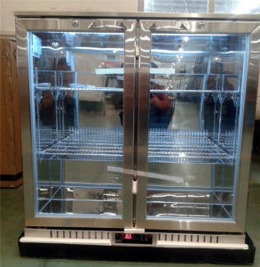 Double Door Back Bar Cooler with Stainless Steel pictures & photos