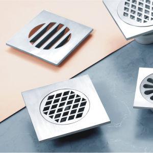 Round Decorative Concrete Stainless Steel Bathroom Floor Drain (D18) pictures & photos