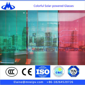 Light and Transparent Solar Panel for Construction Glass