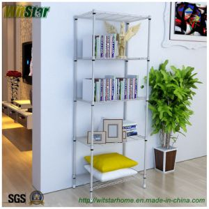 5 Tier Light Duty Adjustable Metal Storage Rack (WS16-0039, for home storage)