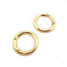 Quality Metal Gold Plated Push Gate Snap Hook Round Ring pictures & photos
