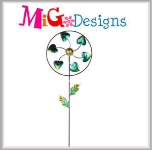 Wind Spinner Stake Metal Garden Art Hot Promotion pictures & photos