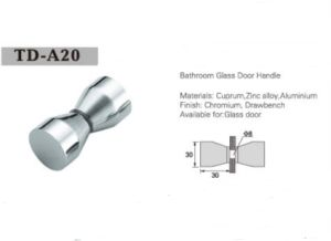 Bathroom Glass Door Knob Shower Room Handle A20 pictures & photos