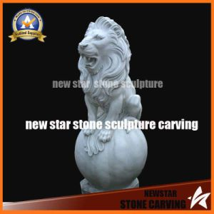 White Marble Stone Carving Lions pictures & photos