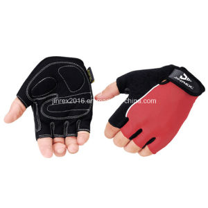 Cycling Half Finger Sports Bike Bicycle Cycle Sports Equipment Glove with Buckle Gel Padding Gift Mountain Bike Fingerless Sports Wear Jr509 Red pictures & photos