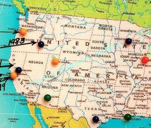 Colorful 10*20 Big Head Map Pins for Decorative Maps pictures & photos
