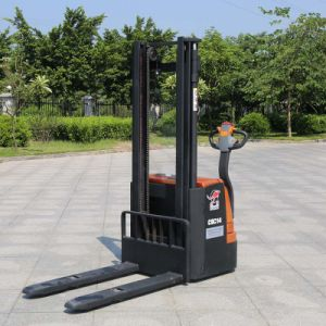 Factory Price Offer Full Electric Powered Forklift Pallet Stacker (CDD14) pictures & photos