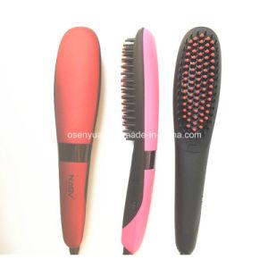 100% Original Anion Straight Comb Ceramic LCD Brush Beauty Star Nasv-300 Hair Straightener Brush Negative Ions Hair Straight Brush pictures & photos