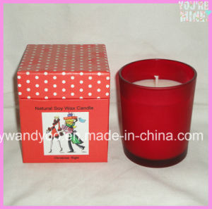 Colorful Luxury Soy Scented Gift Candle in Matched Glass