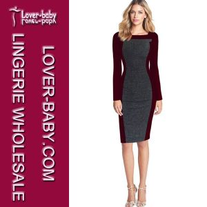 Ladies Office Wear Dress (L36074-1) pictures & photos