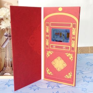 Slim Digital Advertising Video Greeting Card pictures & photos