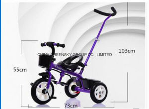 High Quality Tricycle for Children/Baby Toys Trikes with Push Bar Certificate CCC pictures & photos