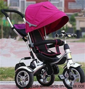 Three Wheel Baby Tricycle with Push Handbar pictures & photos