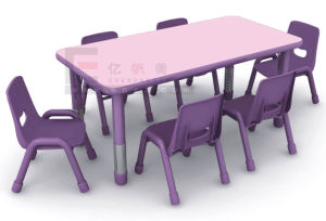 Children Furniture for Children Wooden Desk and Plastic Chair pictures & photos