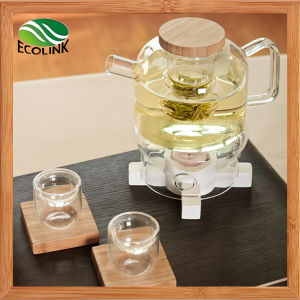 Heat Resistant Crystal Glass Tea Set pictures & photos