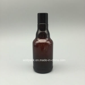 250ml Amber Plastic Pet Bottle with Cap pictures & photos