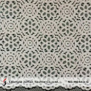 High Quality Cord Lace Fabric for Wedding Dresses (M0443-G) pictures & photos