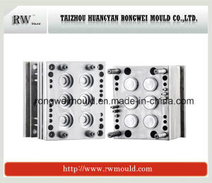 Plastic 6 Cavities Bottle Cap Mould
