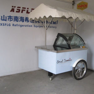 6-8 PCS Display Flavor Ice Cream Cart/Gelato Display pictures & photos